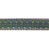 Scroll Gimp Braid Teal Blue