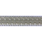 Scroll Gimp Braid Pale Silver