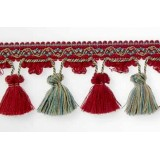 TASSEL FRINGE 65MM - 8 COLOURS
