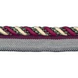 Cavalier Flanged Cord 1009 Cherry Taupe Forest