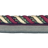 Cavalier Flanged Cord 1011 Cherry Taupe Forest