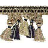 Cavalier Tassel Fringe 1246 Black Taupe