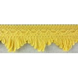 Cottonfields Scallop Fringe Yellow