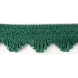 Cottonfields Scallop Fringe Green