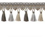 Tassel Trim Chocolate & Silver