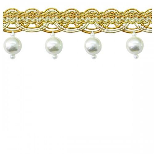Pearl Fringe Light & Dark Gold
