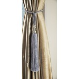 Curtain Tieback Silver Blue