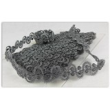 METALLIC SNAKE BRAID 30MM - PEWTER