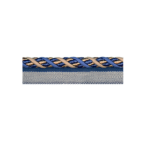 Exquisite Flanged Cord 1008 Navy Taupe