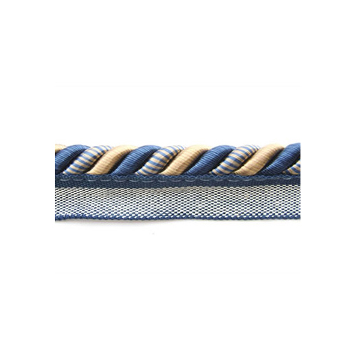 Classic Exquisite Flanged Cord 1030 Navy Taupe