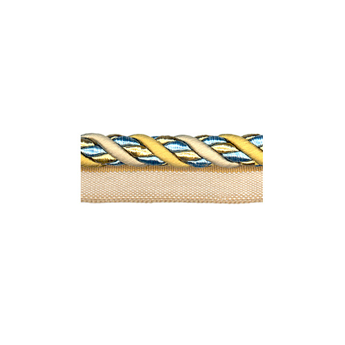 Exquisite Flanged Cord 1034  Blue Heaven