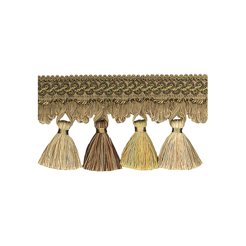 Exquisite Tassel Fringe 1642 Mocha Gold