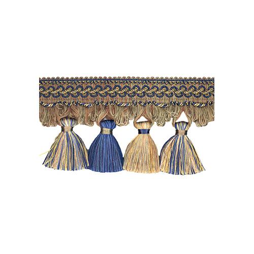 Exquisite Tassel Fringe 1642 Navy Taupe