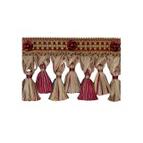 Exquisite Organdy Tassel Fringe 1879 Cherrywood