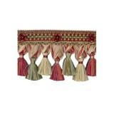 Exquisite Organdy Tassel Fringe 1879 Red Sherbert