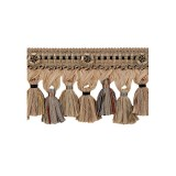 Exquisite Organdy Tassel Fringe 1879 Chocolate Delight