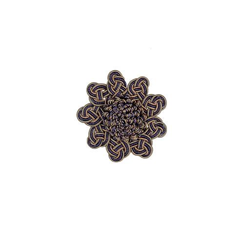 Exquisite Rosette 2687 Navy Taupe