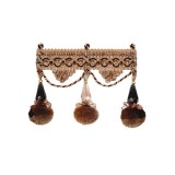 Exquisite Jewel Tassel Fringe 2742 Chocolate Delight