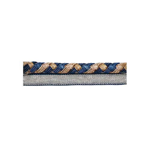 Exquisite Flanged Cord 2814 Navy Taupe