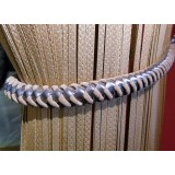Juliet Leather Suede Rope Tie Back 4348 Beige Silver