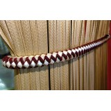 Juliet Leather Suede Rope Tie Back 4348 Burgundy Gold