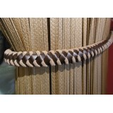 Juliet Leather Suede Rope Tie Back 4348 Brown Beige