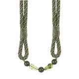 Metallic Rope Tieback Olive