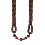 Metallic Rope Tieback  Brown