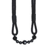 The Lynne Rope Beaded Tieback 4154 Black