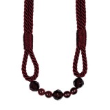 The Lynne Rope Beaded Tieback 4154 Burgundy