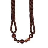 The Lynne Rope Beaded Tieback 4154 Brown