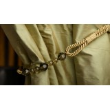 Beaded Rope Curtain Holdback