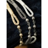 METALLIC ROPE TIEBACK - 6 COLOURS